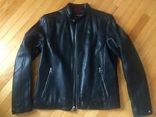 Andrew Marc New York, Black Leather Motorcycle style Jacket Size M