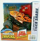 Hot Wheels Monster Trucks 1:43 Radio Control Tiger Shark Orange New Bright 4+