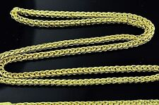 2.30 grams 14k solid yellow gold foxtail wheat chain necklace 16  inches #3829