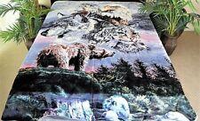 ☀�New 5 Pounds Soft Queen Korean Mink Blanket Plush Wildlife Animals Nature