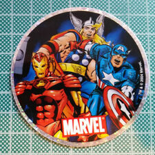 VINTAGE SUPERHEROES Sandylion Marvel Comics Round Holographic Sticker 2004