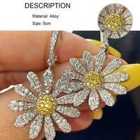 Mode Gänseblümchen Blumen Ohrringe Creolen Schmuck Frauen Geschenke baumeln Y9Q0