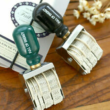 Vintage Roller Date Stamp Postmark Imitating Rubber Stamps DIY Album Tools