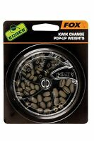 "Fox Carp Fishing Kwik Change Pop-Up Weights - ""The Edges"" Range - All Sizes"