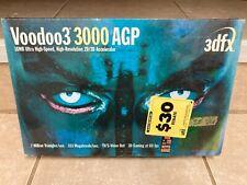 Vintage 3dfx Voodoo3 3000 AGP 16MB 2D/3D Graphics Card - New in Wrap!