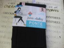 NWT Women/'s 2 June /& Daisy Cotton Leggings Size Medium Black//Grey #547G