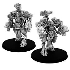 28mm-scale MECHANIC ADEPT CASTELLAN-TYPE WALKER PAIR