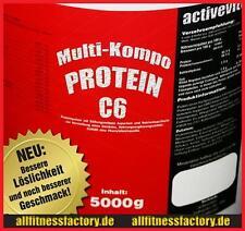 (11,19EUR/ kg) Protein 90 5kg MEHRKOMPONENTEN Eiweiß Muskelaufbau Banane