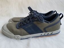 Men's Merrell Rant Knoll Olive Canvas/Navy Leather Lace Up Sneakers Sz 11.5 M