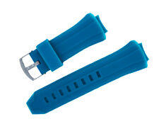 New Blue Silicone Rubber Watch Band Strap For TECHNOMARINE