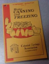 Vtg FARMER'S ALMANAC GUIDE HOME CANNING & FREEZING 1975