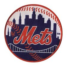 "New York Mets Embroidered Baseball Patch - 5"" Merrowed Edge - Subway Series MLB"