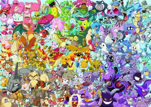 1000 pcs jigsaw puzzle: Cartoon - Pokemon Challenge (Ravensburger 151660)