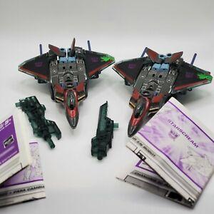 2x Transformers Starscream Energon Combat Class 2003 Instructions Complete LOT