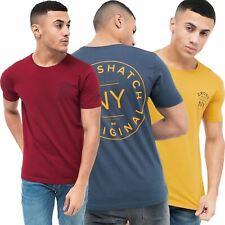Crosshatch Back Graphic Print Mens T-Shirt Top 100% Cotton Short Sleeve Tee Top