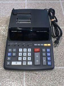 Sharp EL-2196BL Printer Calculator Desktop 12 Digit, 2 Color Printer (Working)