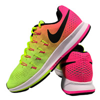 Nike Zoom Pegasus Women's Shoes Size Uk 5.5 Pink Neon Running Trainers EUR 38.5