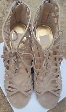 NEW Dolce Vita Women's Tinlie Sandals Open Toe Pump Heels • Nude/Tan • Size 8.5