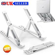 Laptop Stand Height Adjustable Folding Aluminium Holder Non Slip Ergonomic UK