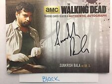 Walking Dead Season 4 PART 1 Sunkrish Bala - Dr. Subramanian BLACK AUTOGRAPH SB2