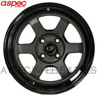 "15X8 +0 ROTA GRID-V 4X114.3 GUN METAL BLACK LIP WHEEL FIT PRELUDE ACCORD 3"" LIP"