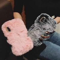 Plush Fluffy Soft Warm Phone CaseCover Comfy Extra Long Faux Fur Samsung iPhone
