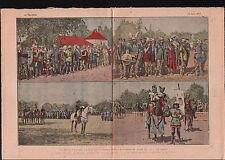 Fête Triomphe Saint-Cyr Uniformes Costumes du Moyen-Age France 1919 ILLUSTRATION