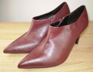 M&S COLLECTION Stiletto Heel Side Zip Shoe Boots (Wine) UK Sizes 8