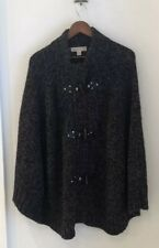 MICHAEL KORS Women's Cardigan Long Sleeve Toggle Sweater Poncho ($225) XL