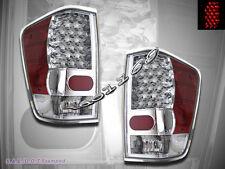 FIT FOR 2004-2012 TITAN LE XE SE LED TAIL LIGHTS CHROME PAIR