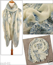 New Women Beige Cool Soft Voile Long Scarf Pashmina Large Wrap Shawl Scarves
