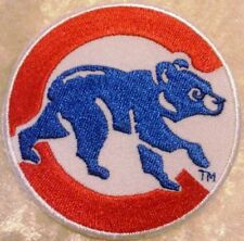 """Chicago Cubs 3"""" Iron on Embroidered Sleeve Patch Ship"""