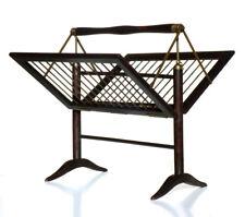 Magazine rack italian 50s italian design wood brass midcentury cesare lacca