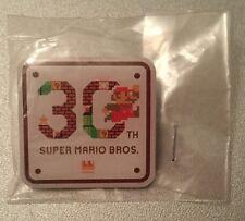 SUPER Mario METALLO Pin Badge trentesimo anniversario-NUOVO RARO insaccate Nintendo ufficiale