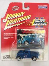 Johnny Lightning 33 1933 Willys Gassers Blue Monte Grubb Diecast 1/64 Bonus Card