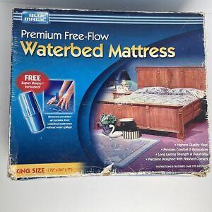 Vintage NOS Blue Magic King Premium Free-Flow Waterbed Mattress With Burper