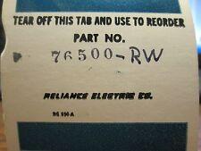 Reliance Potentionmeter, 76500-RW, Used