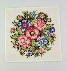 FEILER VIENNA  Chenille White Floral Towel Face Towel Washcloth  Soap Cloth