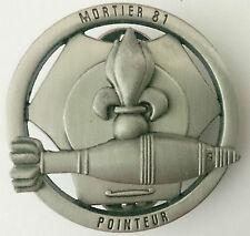 Brevet Tireur POINTEUR MORTIER 81 de la Légion Étrangère 2°REI