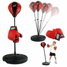 Adjustable Height Kids Punching Ball Bag Speed Boxing Sports Set + Gloves