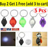 5 Pack Mini Bright LED Micro Light Keychain Squeeze Light Key Ring Camping Tool
