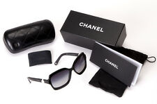 100% Authentic Chanel 5132 H 5013C Black Sunglasses with two Freshwater Pearls