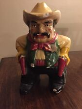 New ListingVintage Sheriff Cowboy Coin Bank Pistol Pete