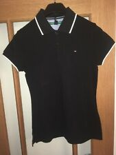 Ladies Tommy Hilfiger Polo Top Size XS BNWT Black