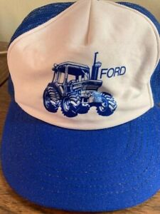 NOS 1980's Ford Tractor Farmer Trucker Hat Mesh Cap Made in USA