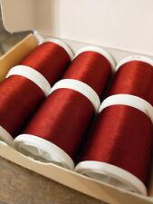 6 Spools Gudebrod Nylon 206 Garnet Thread Rod Winding Size A 1200 yards each