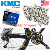 KMC 8/9/10/11s Gold/Silver Chain MTB Bike Hollow X/EL Chain Cassette Sprocket US