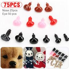 75stk Kunststoff Sicherheitsnase für Teddybär Amigurumi Puppe