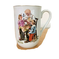 """Norman Rockwell Museum Collection """"The Toymaker"""" Porcelain Coffee Mug 1982 ~ New"""
