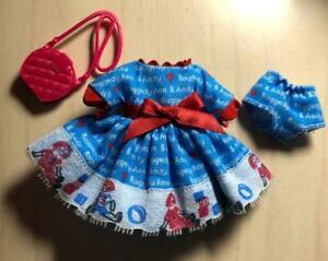 "Handmade 2 Pc Dress Raggedy Ann Outfit Fits Vintage 6"" Tutti Doll"